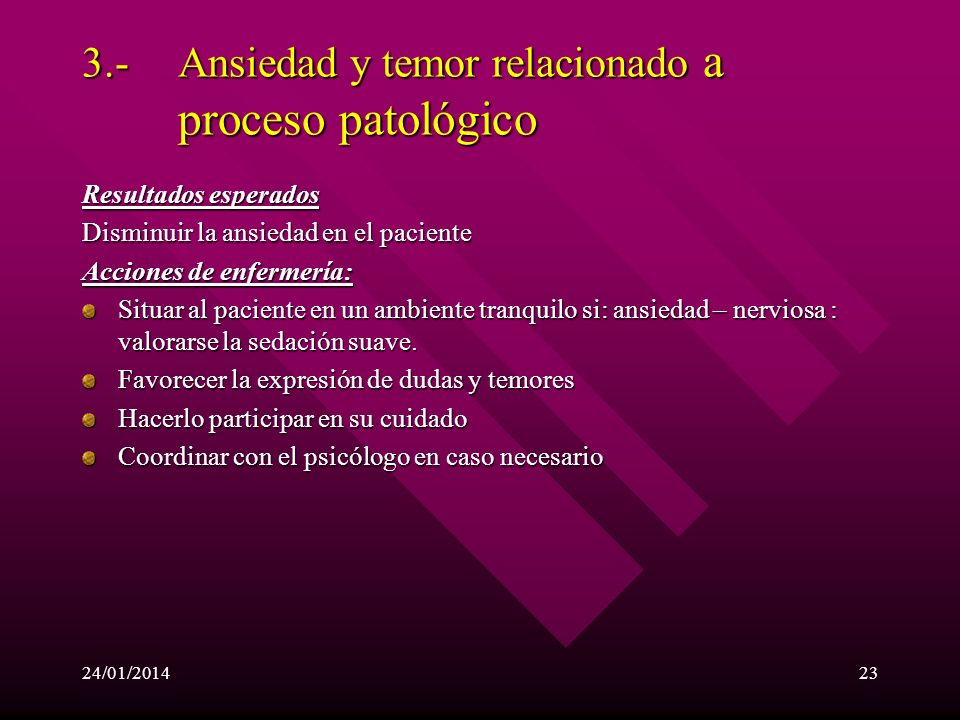 24/01/201422 2.-Potencial alteración de la perfusión hística (cerebral, renal y vascular periférica) relacionado con el aumento de la resistencia vasc