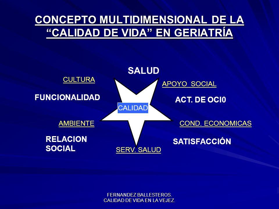 FERNANDEZ BALLESTEROS.CALIDAD DE VIDA EN LA VEJEZ.