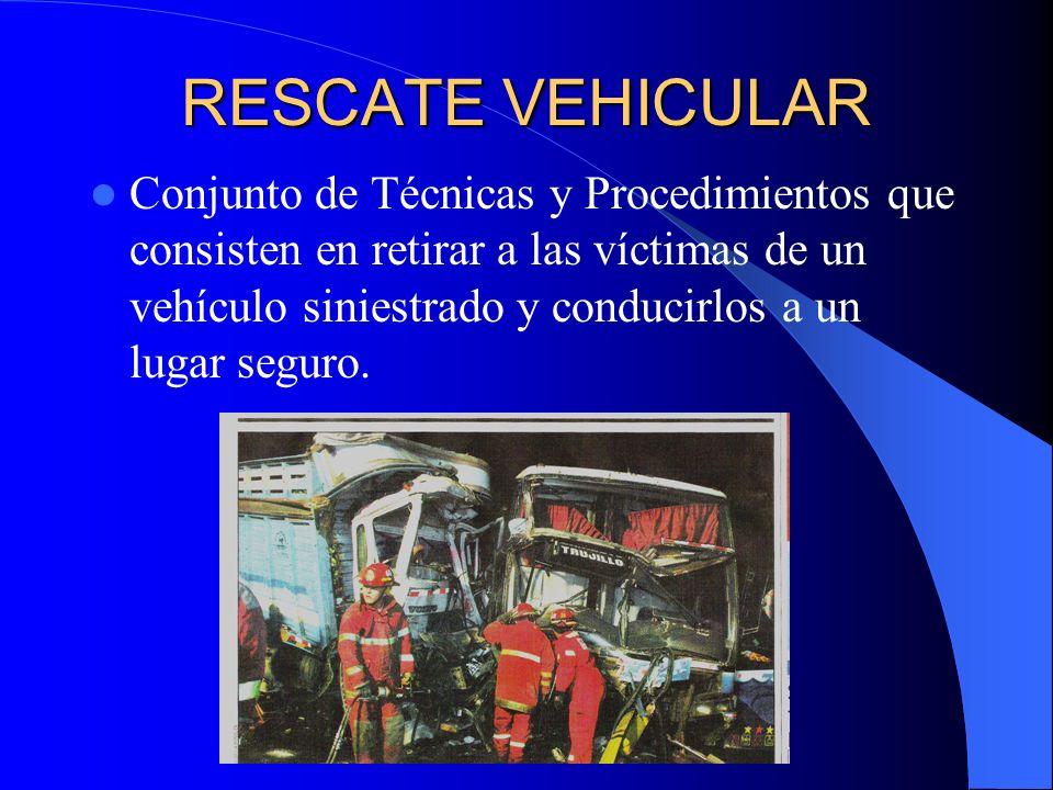 EXTRICACION Procedimiento que consiste en liberar a las víctimas de un accidente vehicular.