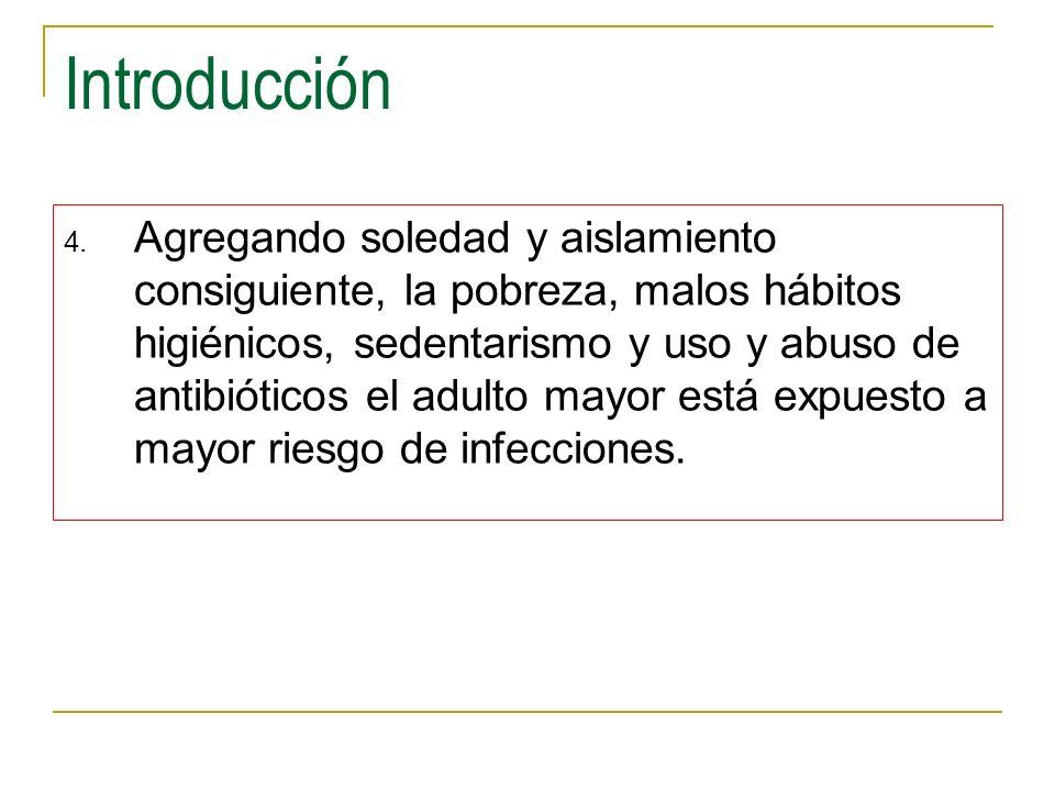 Introducción 4. Agregando soledad y aislamiento consiguiente, la pobreza, malos hábitos higiénicos, sedentarismo y uso y abuso de antibióticos el adul