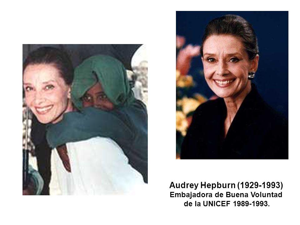 Audrey Hepburn (1929-1993) Embajadora de Buena Voluntad de la UNICEF 1989-1993.