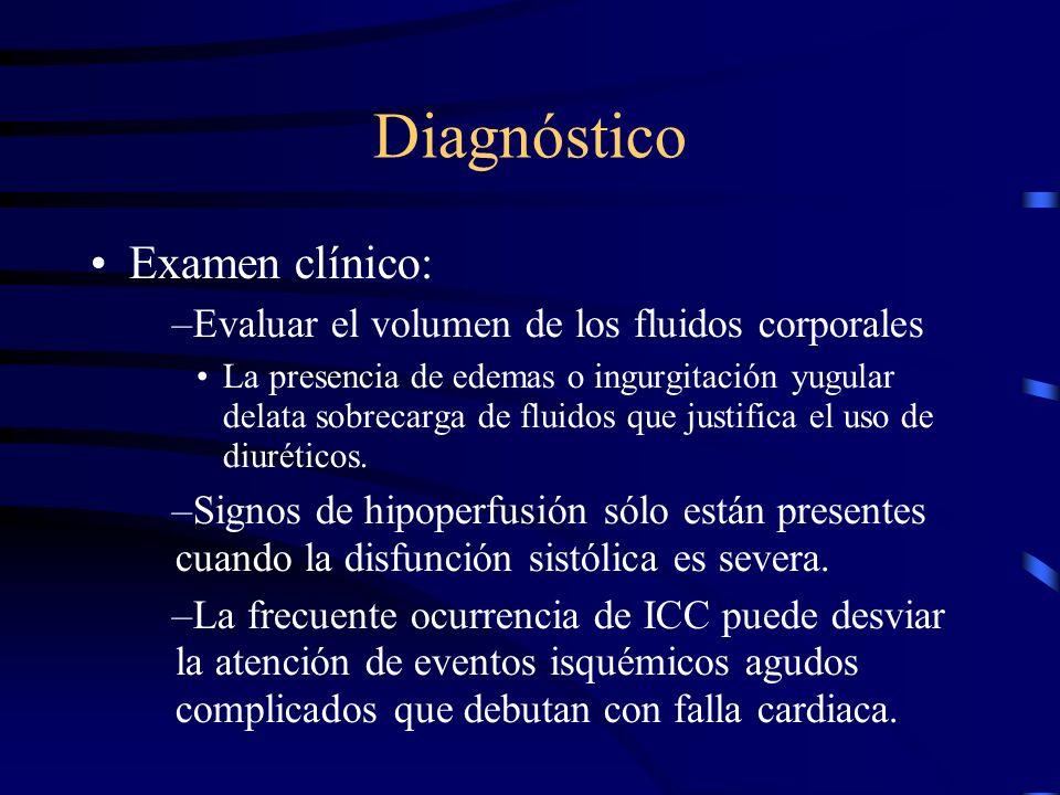 Diagnóstico El paciente con insuficiencia respiratoria aguda: –Un porcentaje importante tiene ICC. –El diagnóstico no es único –Necropsias han revelad