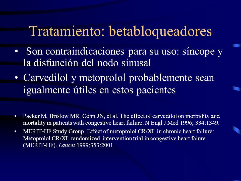 Tratamiento: inhibidores de la ECA