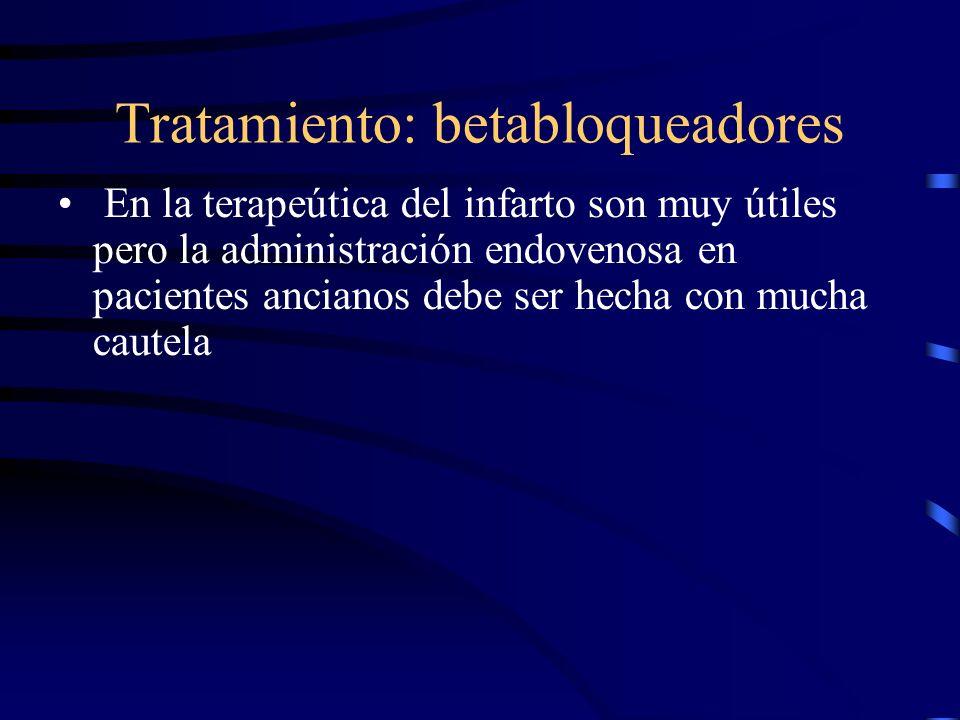 Tratamiento: betabloqueadores Son contraindicaciones para su uso: síncope y la disfunción del nodo sinusal Carvedilol y metoprolol probablemente sean igualmente útiles en estos pacientes Packer M, Bristow MR, Cohn JN, et al.
