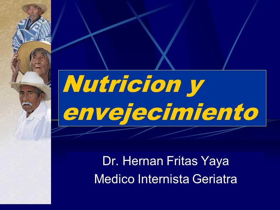 Nutricion y envejecimiento Dr. Hernan Fritas Yaya Medico Internista Geriatra