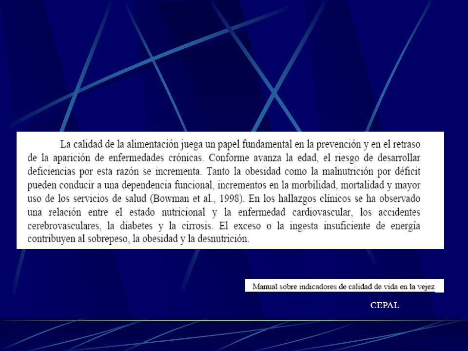 Valoracion Nutricional: Bioquimica Albumina Serica Recuento total de linfocitos Transferrina sérica Capacidad total de fijacion de hierro Colesterol sérico Heymsfield et al.