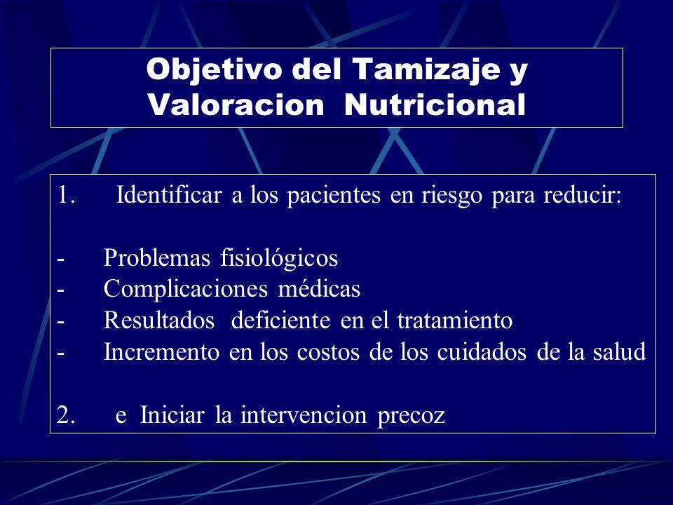 Objetivo del Tamizaje y Valoracion Nutricional 1.