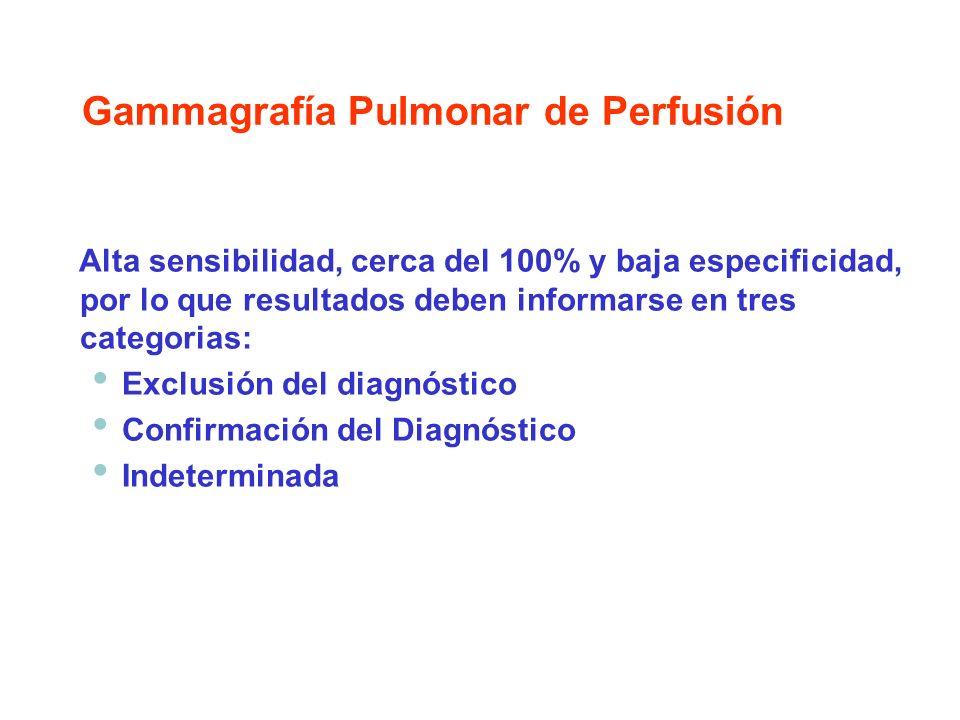 Alta sensibilidad, cerca del 100% y baja especificidad, por lo que resultados deben informarse en tres categorias: Exclusión del diagnóstico Confirmac