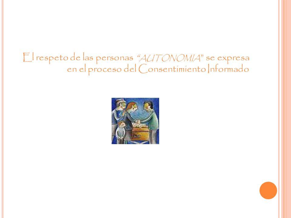 BENEFICIENCI A El investigador es el responsable de bienestar físico, mental y social del participante