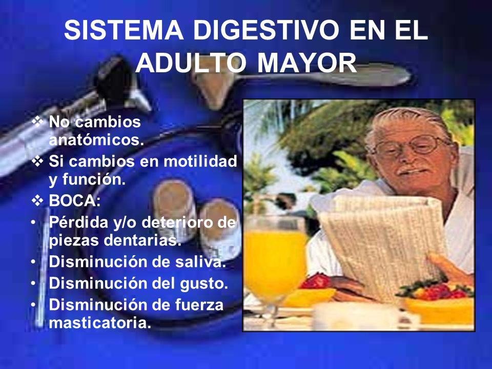 TRASTORNOS DIGESTIVOS EN EL ADULTO MAYOR DR. OSCAR CEBREROS IBARRA