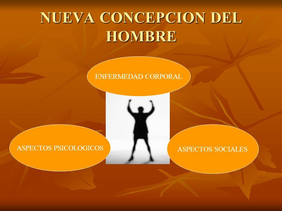 NUEVA CONCEPCION DEL HOMBRE ENFERMEDAD CORPORAL ASPECTOS PSICOLOGICOS ASPECTOS SOCIALES
