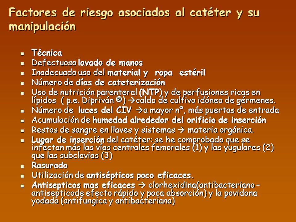 EQUIPOS DE PERFUSIÓN Y SOLUCIONES Luz distal: Preservar para la Nutrición Parenteral.
