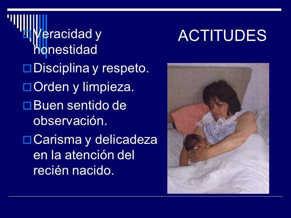 HABILIDADES Reconocer los signos de alarma del recién nacido. Destreza en sus actividades. Iniciativa y criterio. Buenas relaciones Interpersonales. E