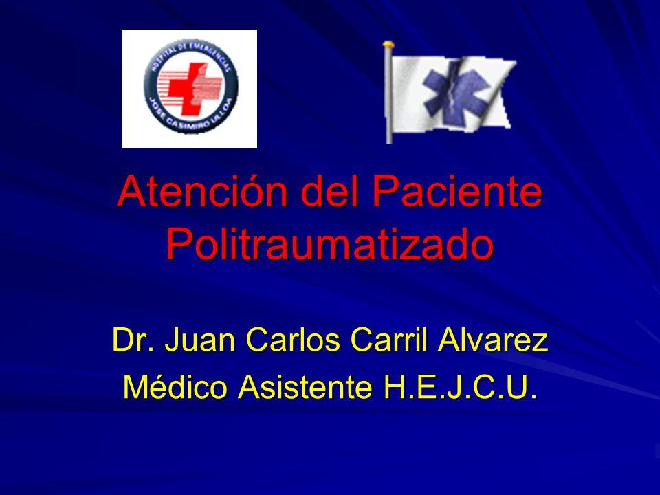 Atención del Paciente Politraumatizado Dr. Juan Carlos Carril Alvarez Médico Asistente H.E.J.C.U.