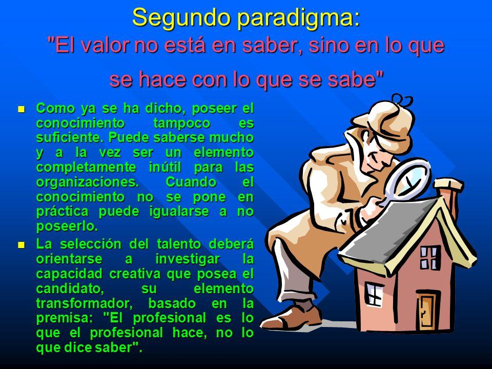 Segundo paradigma:
