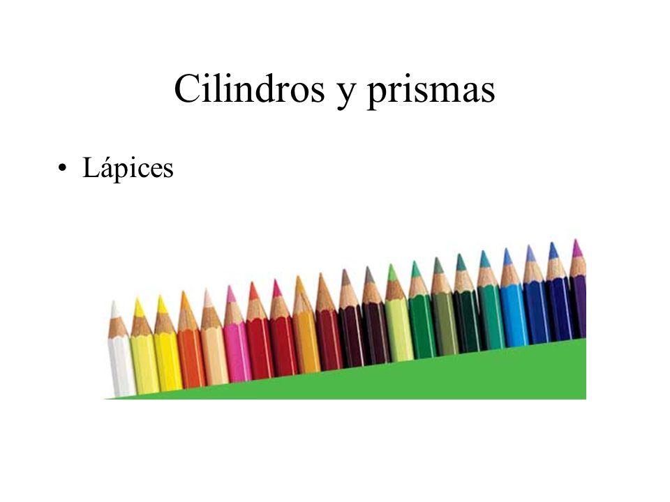 Cilindros y prismas Lápices