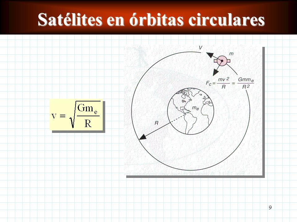 9 Satélites en órbitas circulares