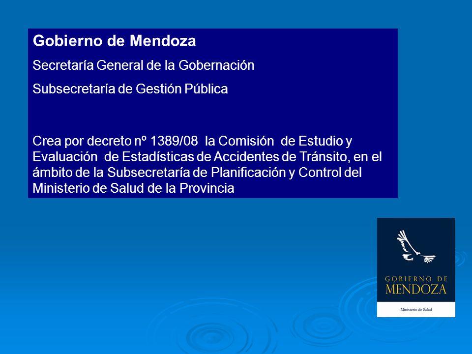 Gobierno de Mendoza Secretaría General de la Gobernación Subsecretaría de Gestión Pública Crea por decreto nº 1389/08 la Comisión de Estudio y Evaluac