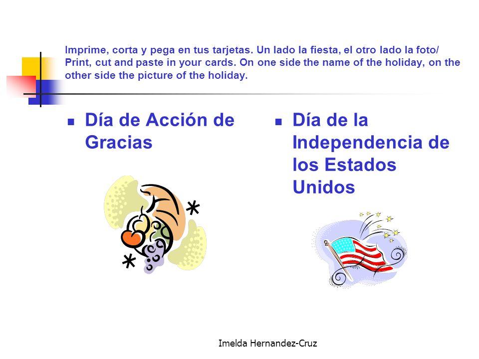 Imelda Hernandez-Cruz Imprime, corta y pega en tus tarjetas.