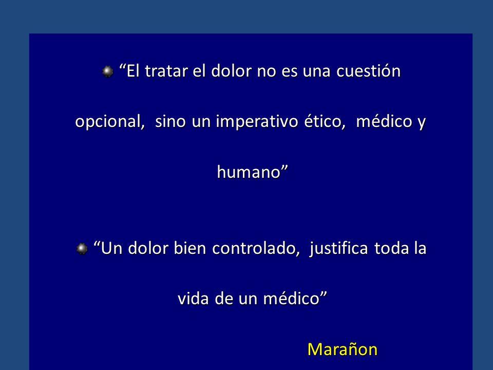 El tratar el dolor no es una cuestiónEl tratar el dolor no es una cuestión opcional, sino un imperativo ético, médico y humano humano Un dolor bien co
