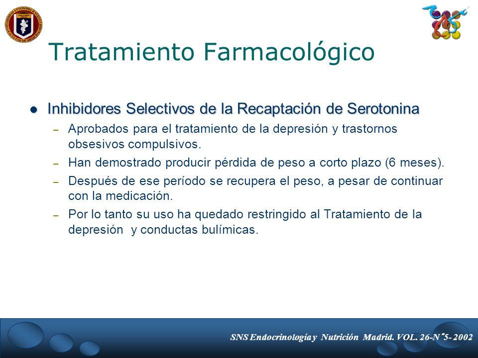 Inhibidores Selectivos de la Recaptación de Serotonina Inhibidores Selectivos de la Recaptación de Serotonina – Aprobados para el tratamiento de la de