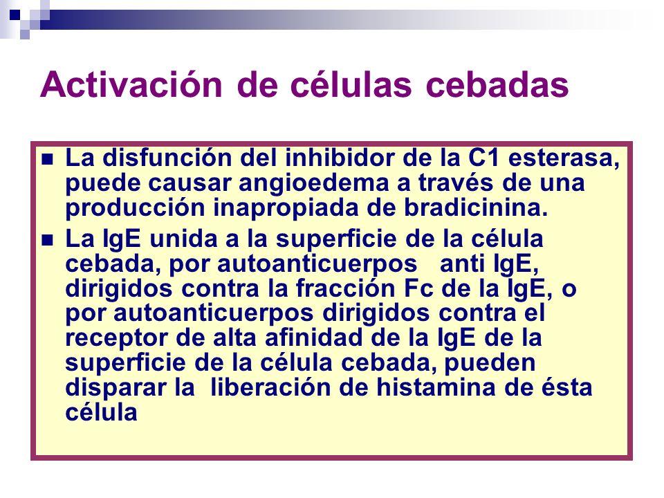 Angioedema.Clasificación por tipos Agostoni A et al.Hereditary and acquired angioedema.