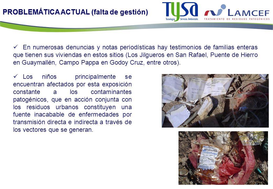PROBLEMÁTICA ACTUAL (falta de gestión) Los niños principalmente se encuentran afectados por esta exposición constante a los contaminantes patogénicos,
