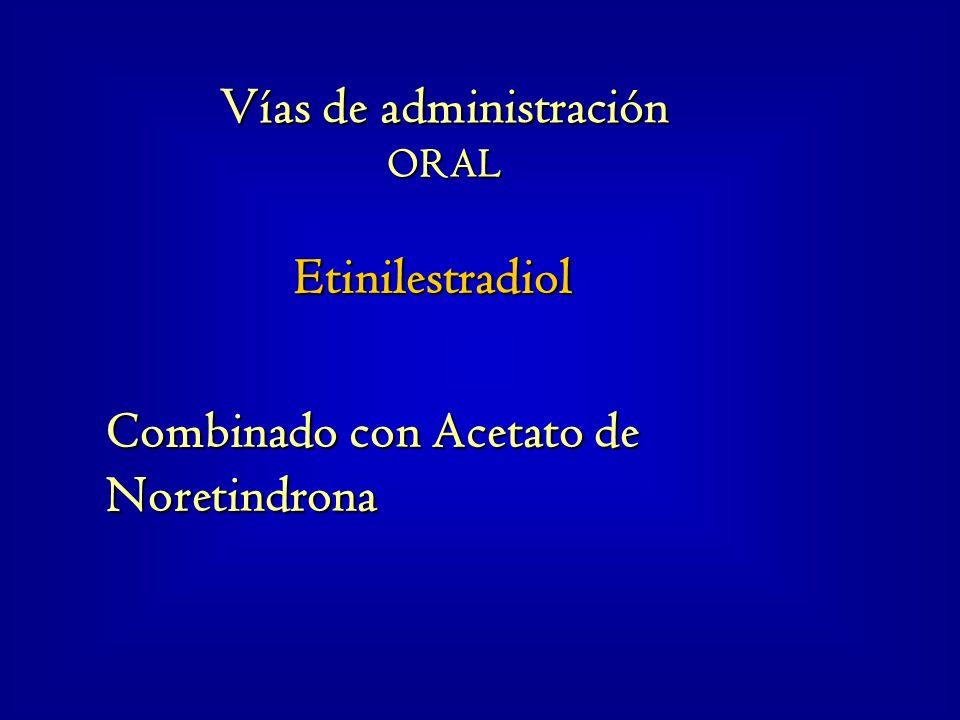 Etinilestradiol Combinado con Acetato de Noretindrona Vías de administración ORAL
