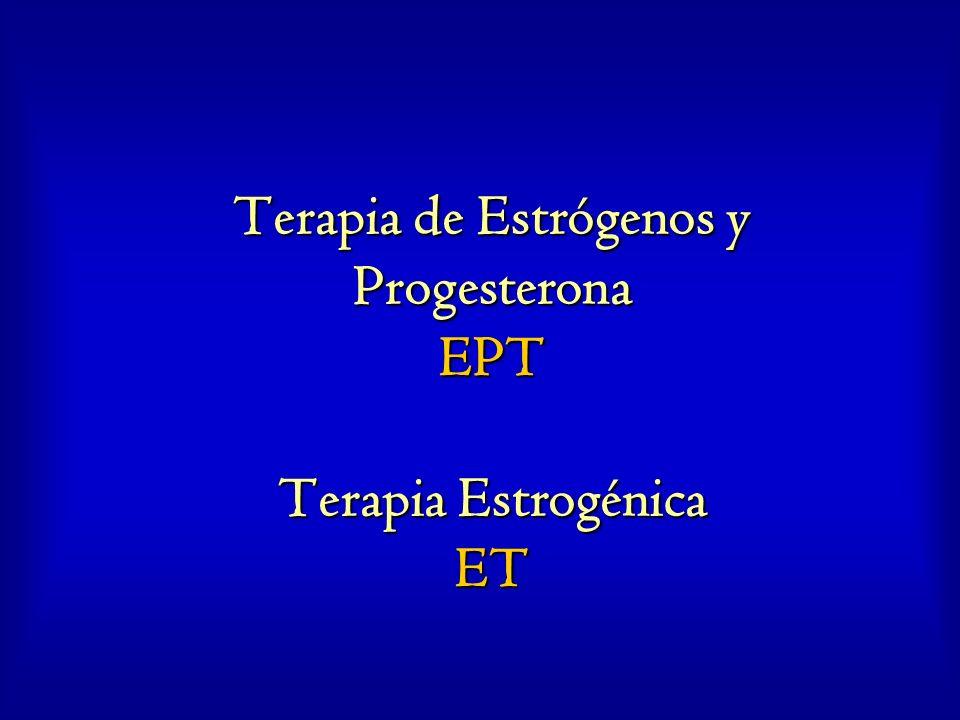 Vías de uso y dosis promedio de estrógenos TipoVíamg/día Estradiol micronizadooral1.0-2.0 EECoral0.625 Estrógenos esterificadosoral0.625 Estropipatooral1.25 Etinilestradioloral0.005 Estradiol transdérmica0.05 Estradiol percutánea2.0 EEC Vaginal0.625 Estradiol micronizado Vaginal0.1 Estradiol en aerosolnasal0.03 Estradiol en anillos Vaginal2.0 Estradiol Subcutánea50