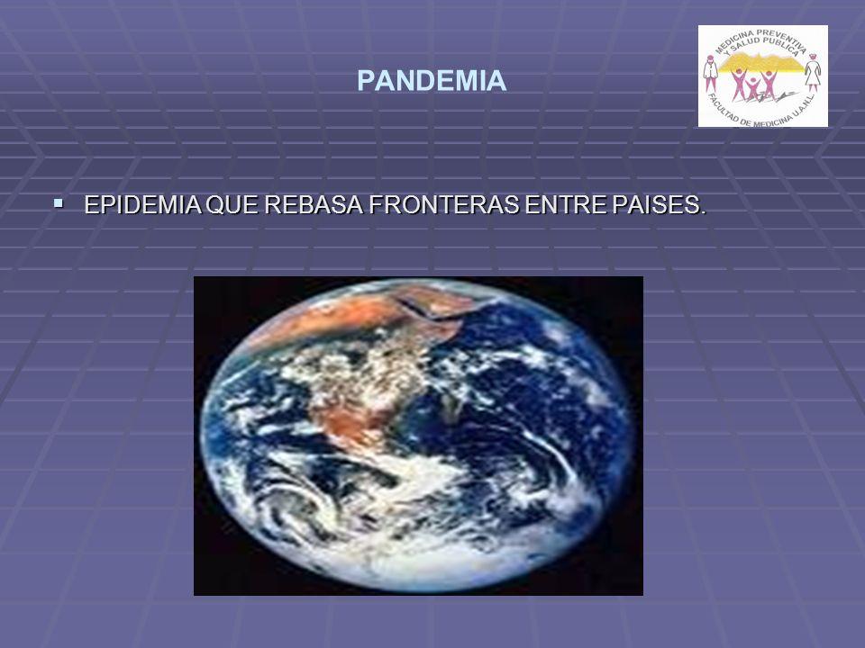 PANDEMIA EPIDEMIA QUE REBASA FRONTERAS ENTRE PAISES. EPIDEMIA QUE REBASA FRONTERAS ENTRE PAISES.