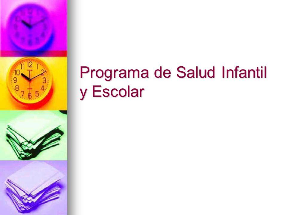 Programa de Salud Infantil y Escolar
