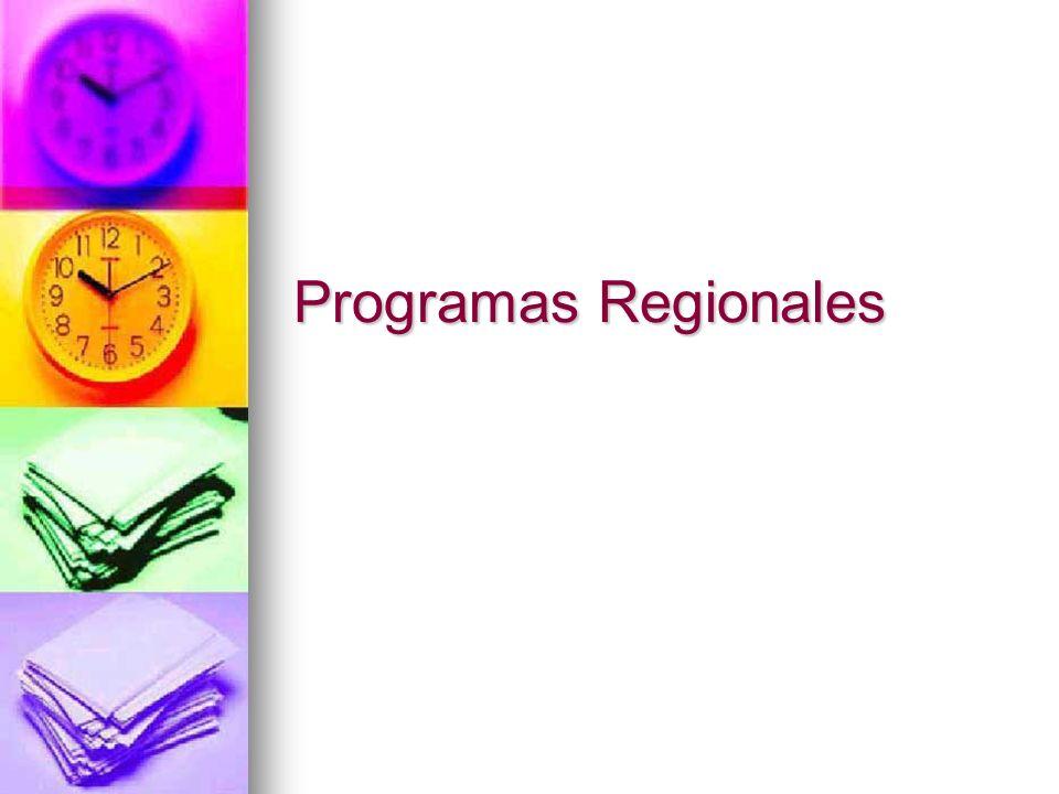 Programas Regionales