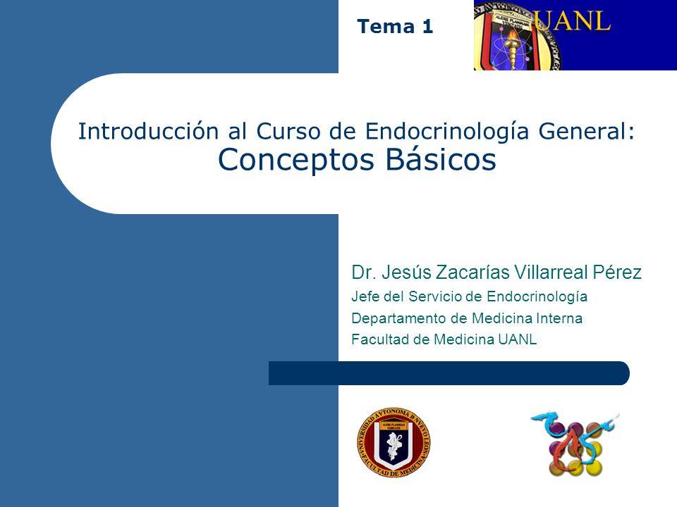 Introducción al Curso de Endocrinología General: Conceptos Básicos Dr. Jesús Zacarías Villarreal Pérez Jefe del Servicio de Endocrinología Departament