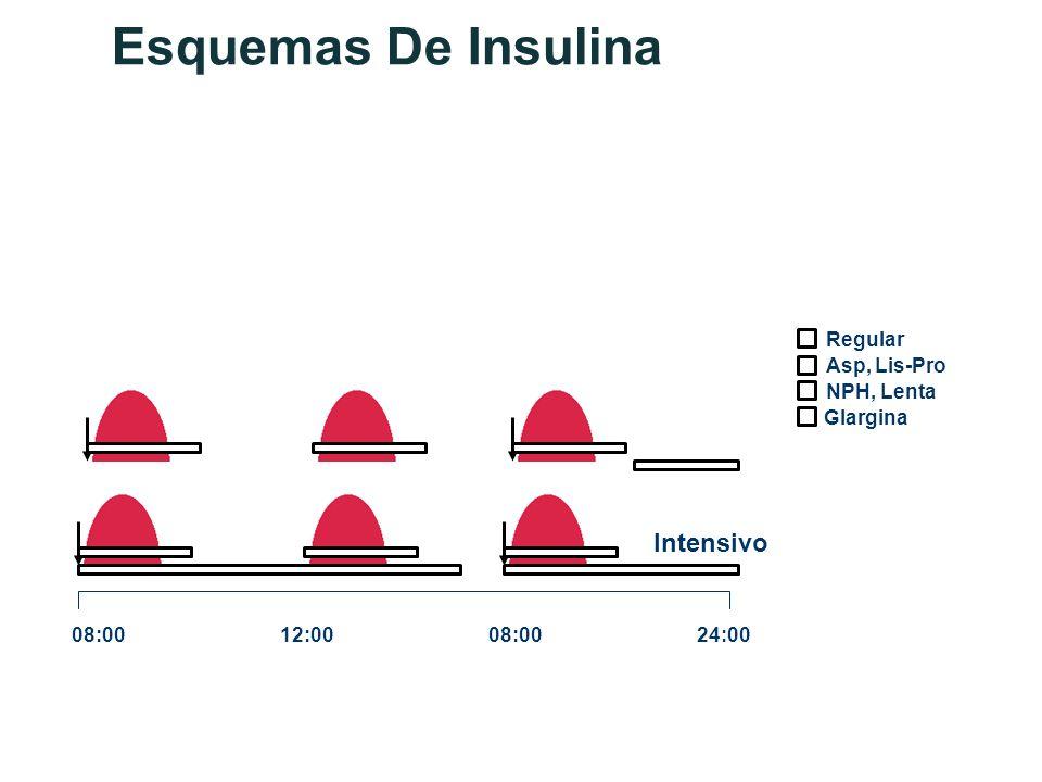 Esquemas De Insulina Asp, Lis-Pro Glargina NPH, Lenta Regular 08:0012:0008:0024:00 Intensivo