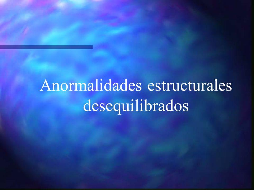 Anormalidades estructurales desequilibrados