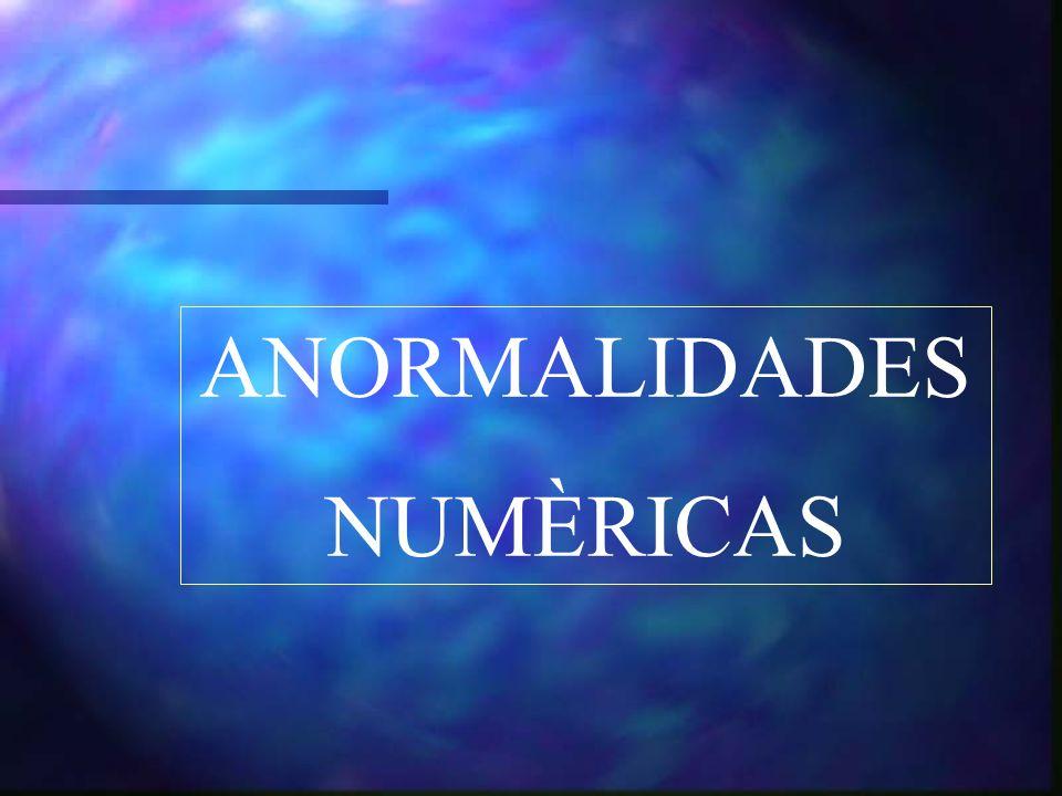 ANORMALIDADES NUMÈRICAS