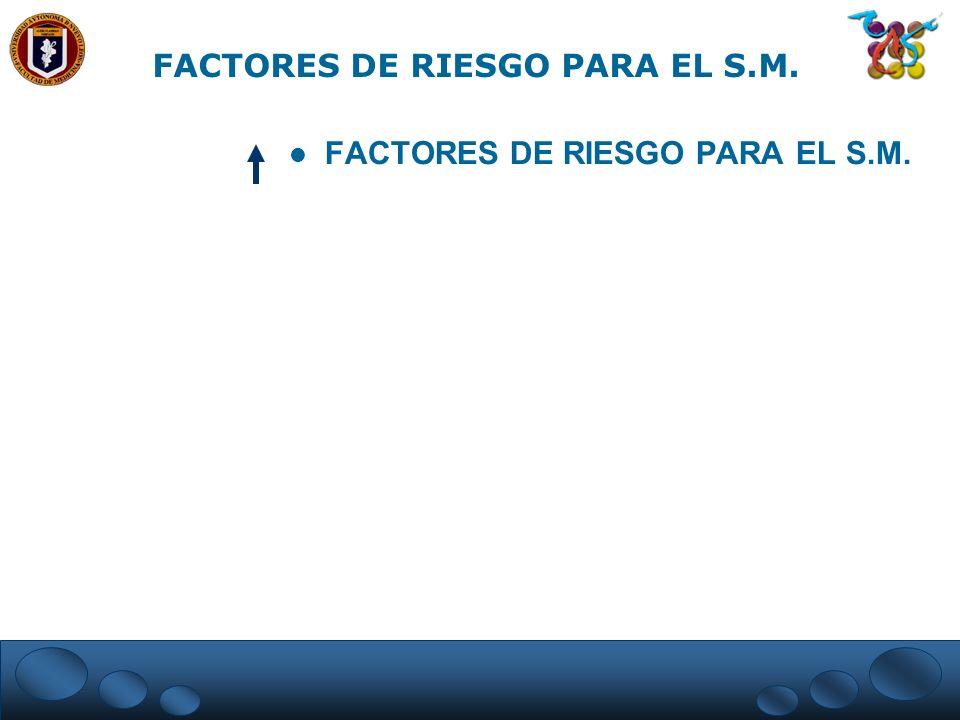 FACTORES DE RIESGO PARA EL S.M.