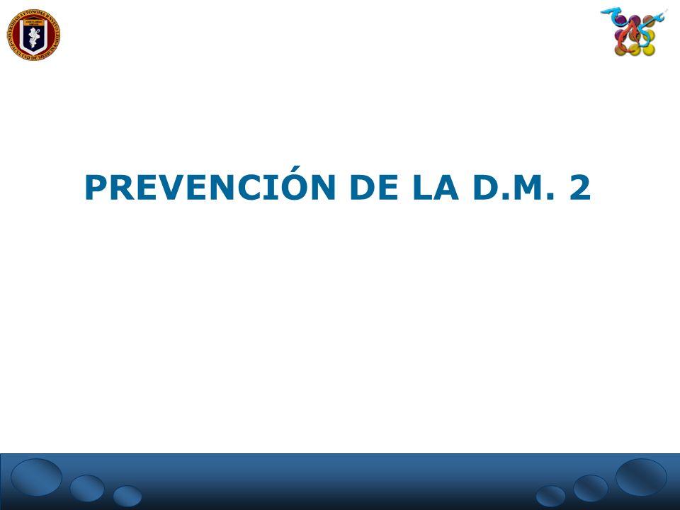 PREVENCIÓN DE LA D.M. 2