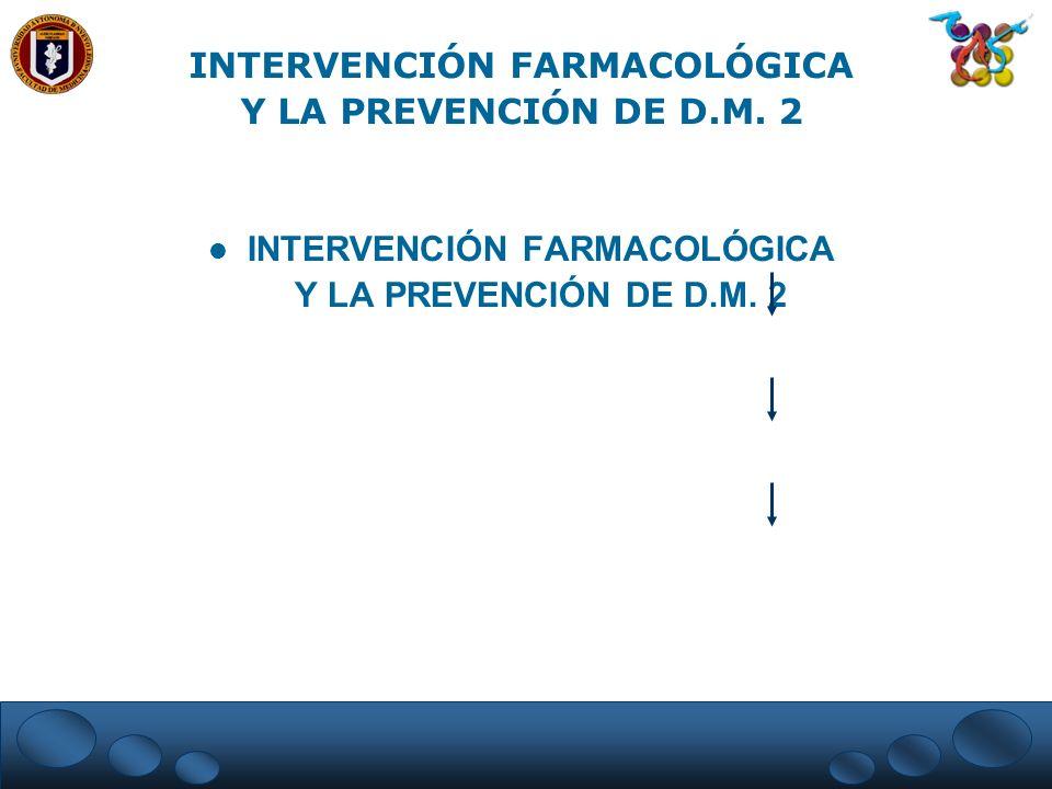 INTERVENCIÓN FARMACOLÓGICA Y LA PREVENCIÓN DE D.M. 2
