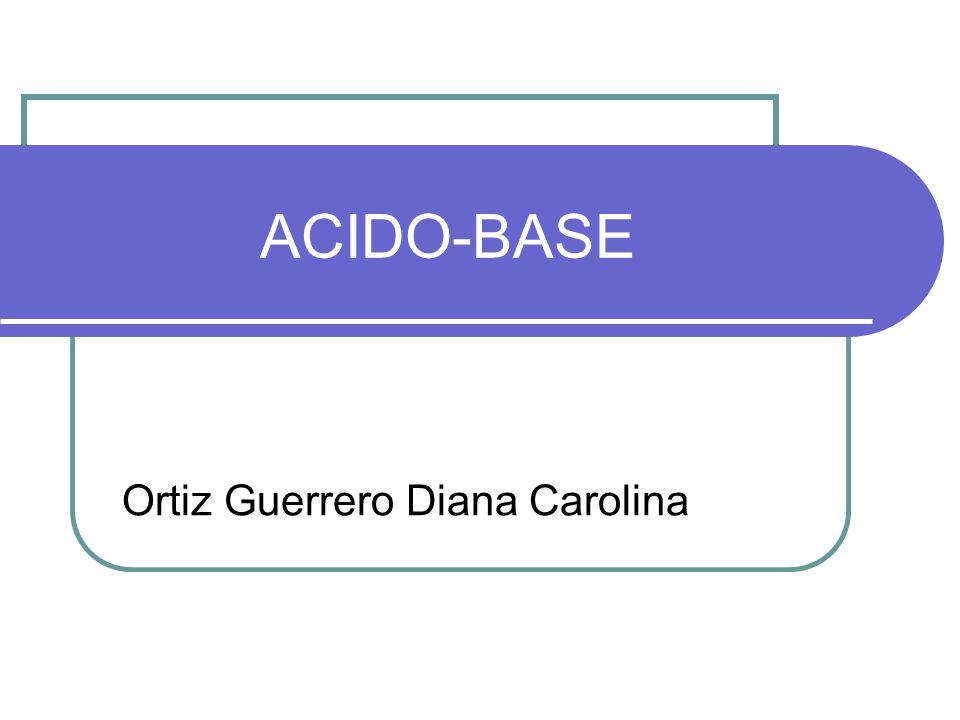 Definiciones: Ácido: es una sustancia que puede donar un Hidrogenion Base: sustancia que puede aceptar un Hidrogenion pH: el logaritmo negativo de la concentración de Hidrogeno