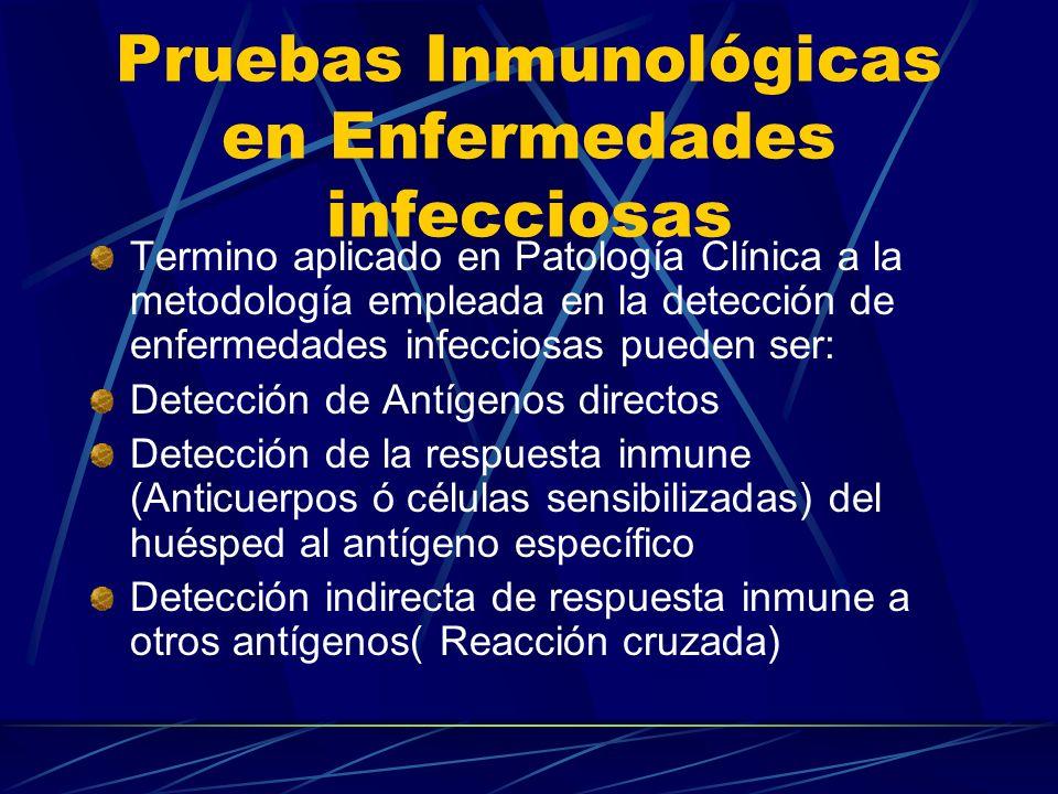 Termino aplicado en Patología Clínica a la metodología empleada en la detección de enfermedades infecciosas pueden ser: Detección de Antígenos directo