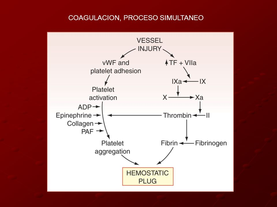 COAGULACION, PROCESO SIMULTANEO