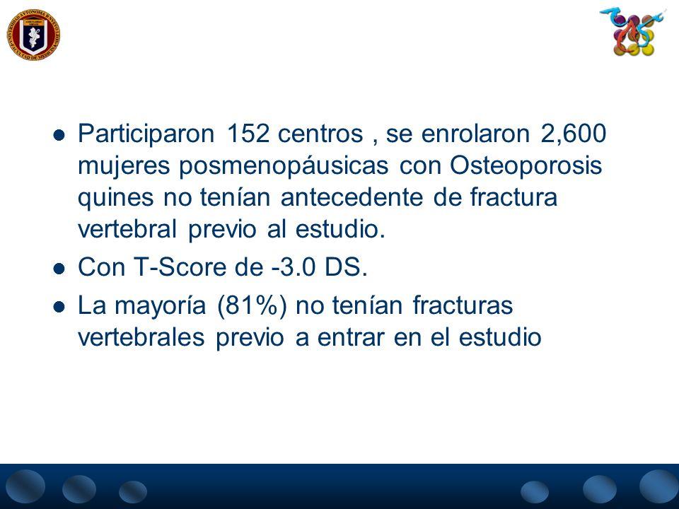 PREOS (PTH) – Estudio fase III TOP (tratamiento de la Osteoporosis con PTH) Estudio Multicèntrico Randomizado Doble Ciego Placebo Controlado. Diseñado