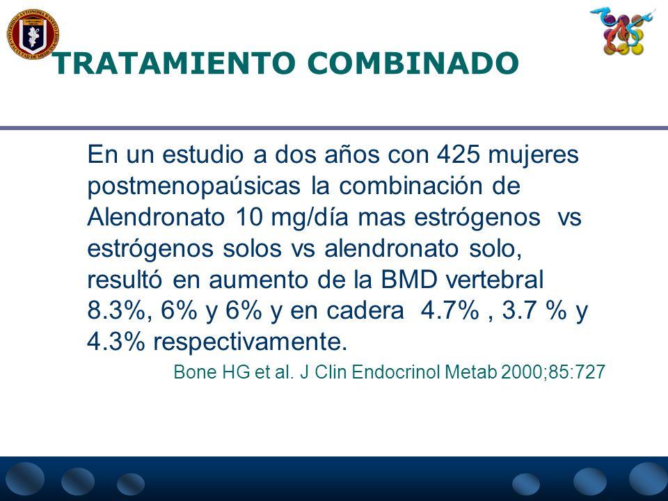 ESTEROIDES ANABÓLICOS El Decanonato de nandrolona 50 mg cada 3 semanas por un año junto con la administración de 1 gr.de calcio/día incrementa la masa