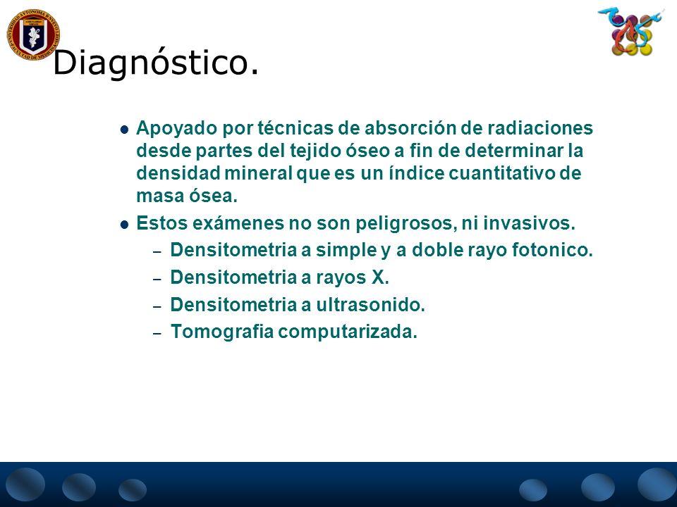 Diagnostico DIAGNÓSTICO DE LA OSTEOPOROSIS: CLÍNICO, LABORATORIAL Y RADIOLÓGICO