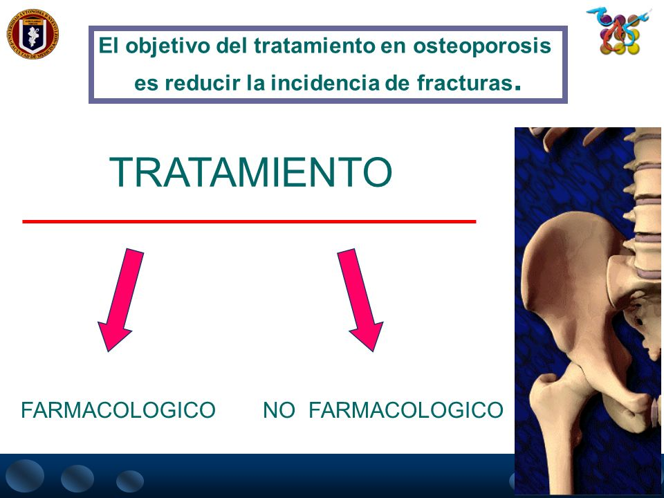 PERFIL DEL TRATAMIENTO IDEAL Disminución de riesgo de fracturas Aumento de densidad mineral ósea Facilidad de administración Aceptación por el pacient