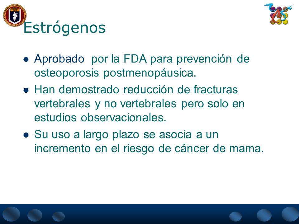 ACCION SISTEMICA DE LOS ESTROGENOS EN EL METABOLISMO OSEO ESTROGENO riñón intestinoparatiroidestiroides excreción de Ca 1,25(OH) 2 D 3 absorción de Ca