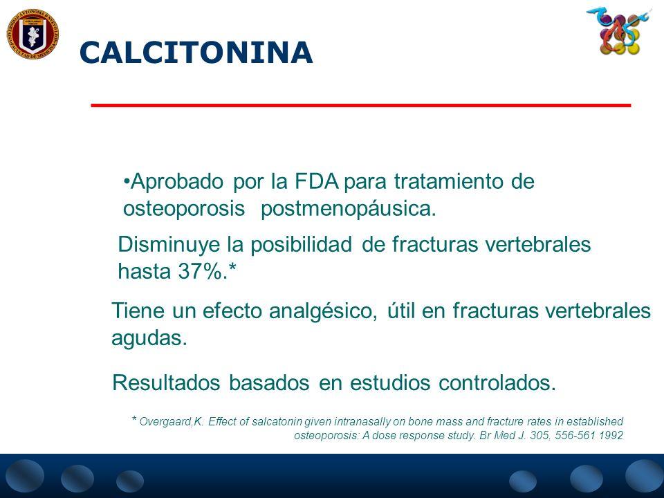 CALCITONINA 1)HORMONA: es una de las tres hormonas calciotrópicas junto com la PTH y la 1,25 Vitamina D, con efecto sobre el metabolismo mineral, óseo