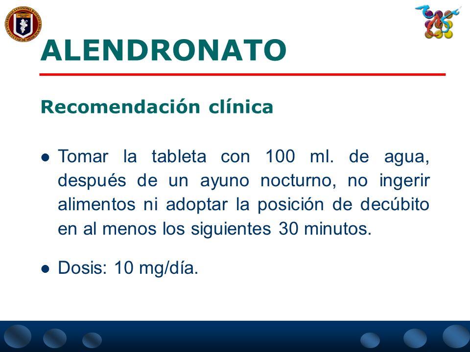 El uso de Alendronato por 3 años en mujeres postmenopáusicas con densidad mineral ósea baja y fracturas vertebrales preexistentes pudo disminuir el ri