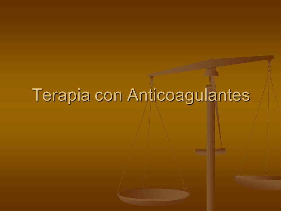 Terapia con Anticoagulantes